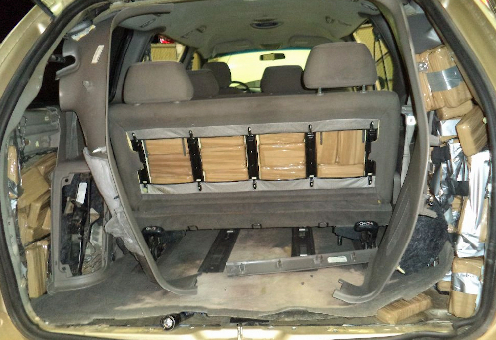 Arizona Drug Crime Lawyer - vehicle with drugs hidden in seats and panels.