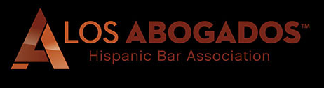 Los Abogados logo on black background